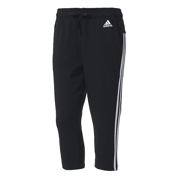 adidas ESS 3S Pantalón 3/4, Negro (Negro/Blanco), S para Mujer ...