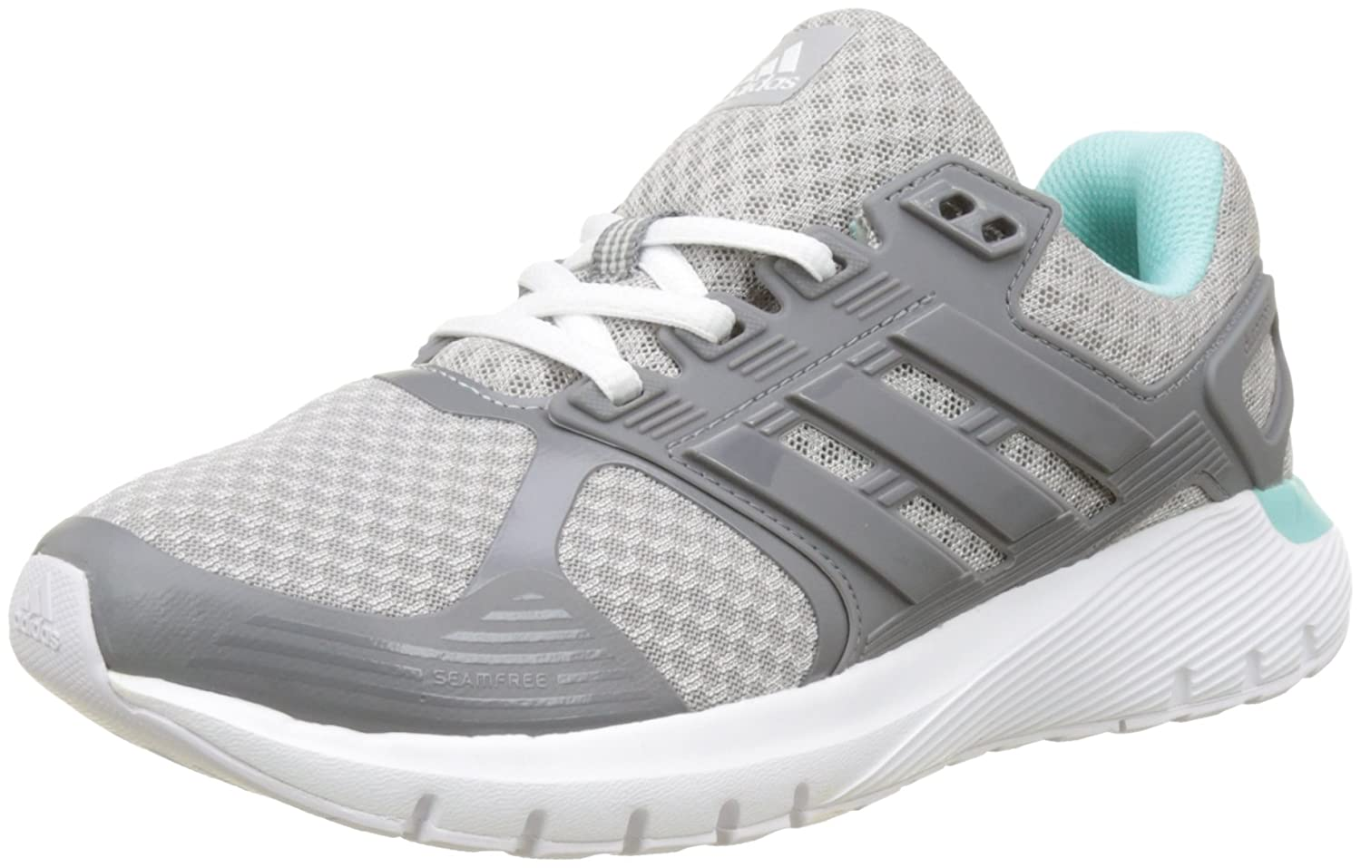 Adidas Duramo 8 W, Zapatos para Correr Mujer 37 1/3 EU|Gris (Grey Two /Grey Three /Energy Aqua)