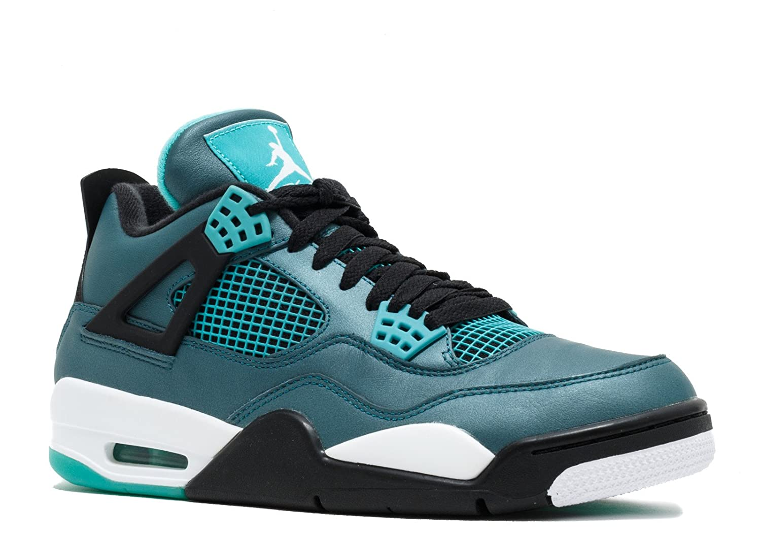 Teal, white-black Nike Jordan Kids Air Jordan 4 Retro Bg Basketball shoes