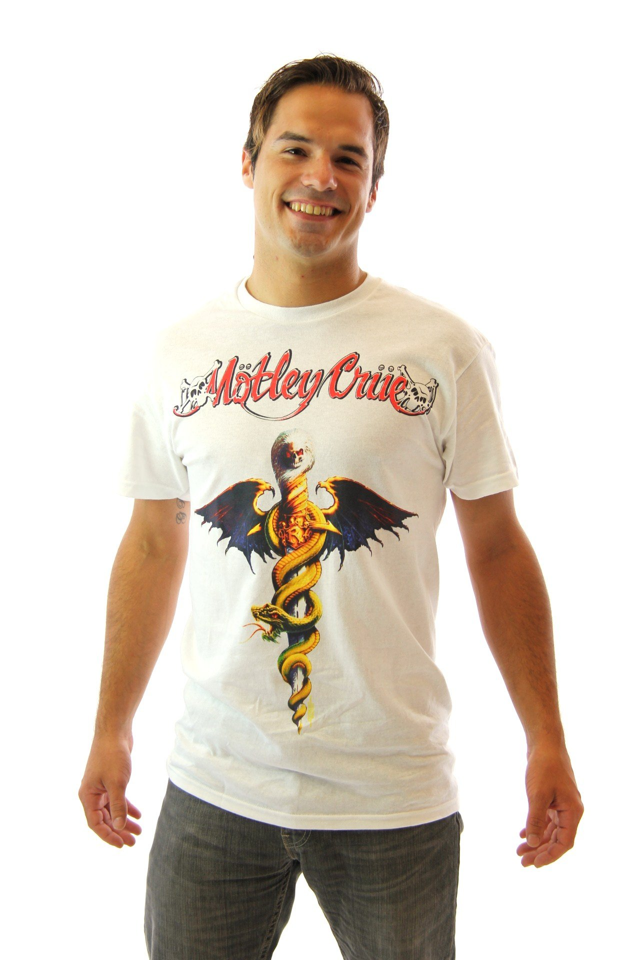 Waynes World Motley Crue Band Logo Adult Shirts