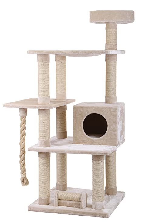 XXL Rascador Maine Coon 2 Beige – Especialmente para grandes y pesados, gatos