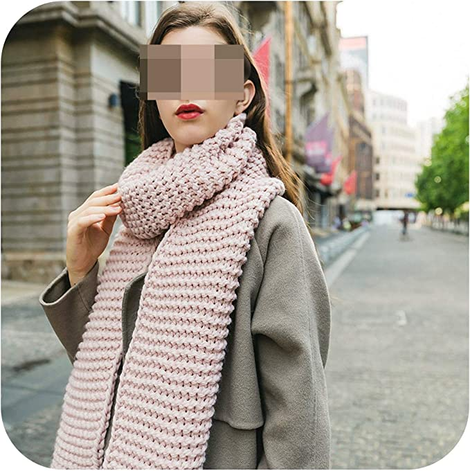 Nuofengkudu Unisex Couple Fashion Infinity Scarf Scarves Knitting Wool Fleece Neck Warm Winter Spring Clothes Accessory Gift