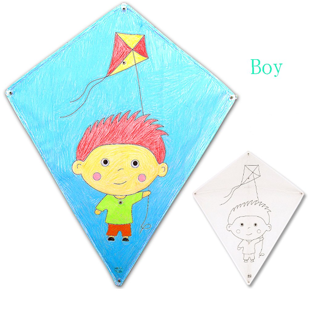 funfunfly® Kite DIY Drawing Rainbow /Girl /Boy / Colour -One Of The ...