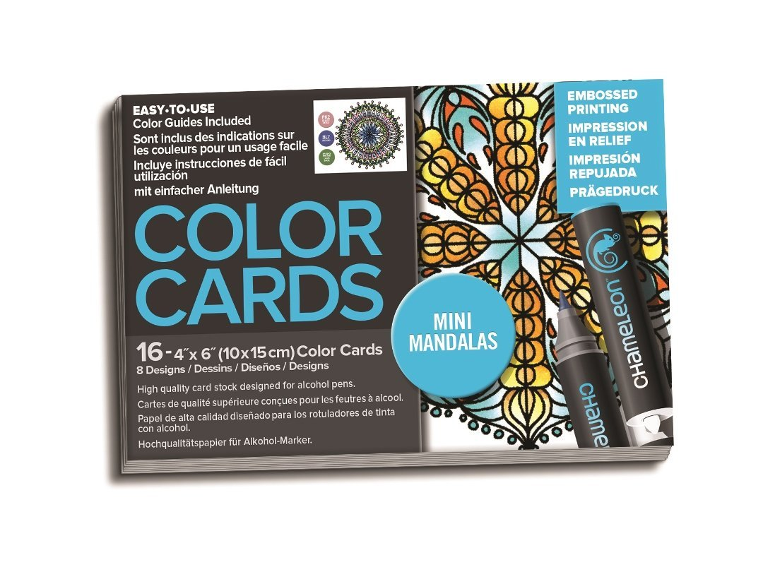 Chameleon Art Products, Color Cards, Mini Mandala