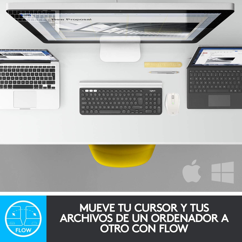 Logitech MX Anywhere 2S Ratón Inalámbrico, Multi-Ordenadores, 2.4 GHz y Bluetooth con Receptor Unifying USB, Seguimiento Láser 200/4000 DPI Toda ...
