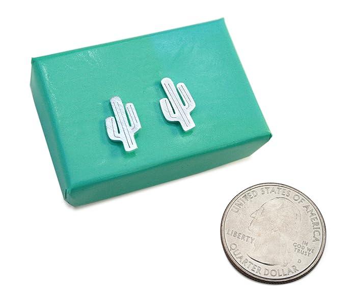 Amazon.com: Dainty arete de Cactus Saguaro Stud arete simple ...