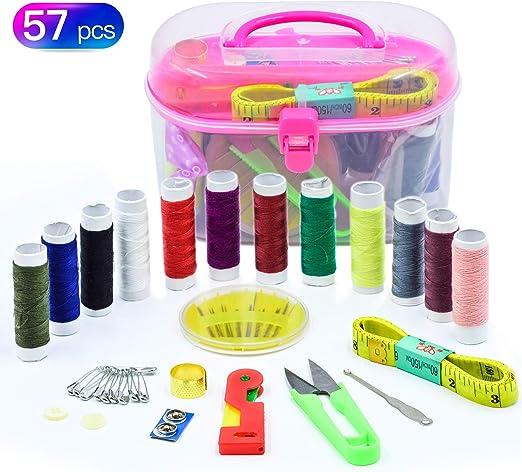 Kit de costura, FEIGO 57 piezas Accesorios de costura Premium DIY ...