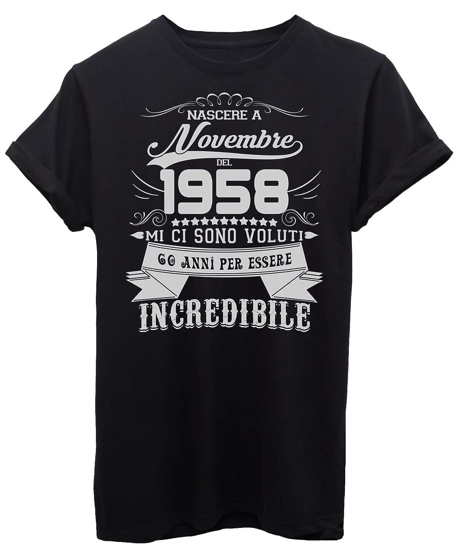 iMage T-Shirt Compleanno Nato A Novembre del 1958-60 Anni per Essere Incredibile - Eventi iMageT-IT-3258-parent