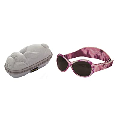 dcaf303b2fad23 Lunettes de soleil BabyBanz Retro - Bébé 0 à 24 mois , Camo Rose, et un  étui lunettes de soleil Yoccoes - en forme de Lapin Argent
