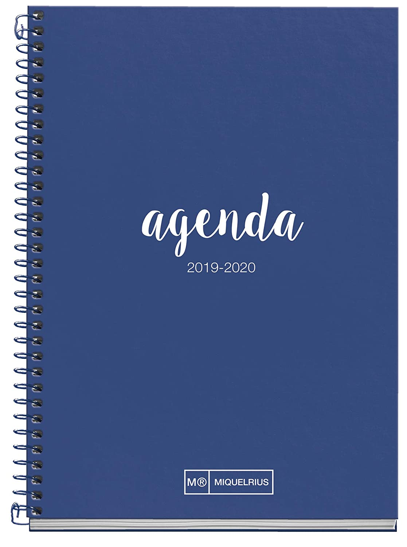 Miquelrius Agenda Escolar con espiral 19/20 Día Página Lettering Turquesa Castellano - 117x174x mm
