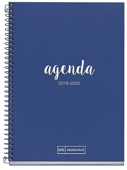 Miquelrius agenda escolar con espiral 2019 2020 semana vista lettering marino español - 117x174 mm