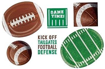 459d407c7ace Amazon.com  Football Party Supplies Pack Bundle Includes Large Oval ...