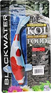 Blackwater Premium Koi and Goldfish Foods Color Enhancing Diet 2 lb, Medium Pellet