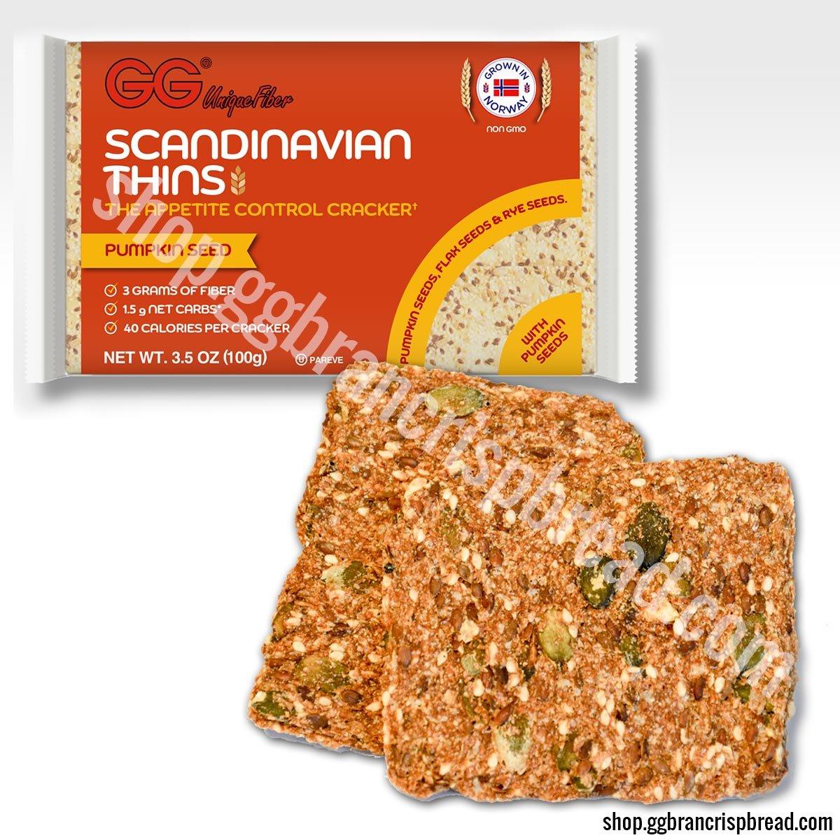 GG Scandinavian Thins with Pumpkin Seeds 30 pack