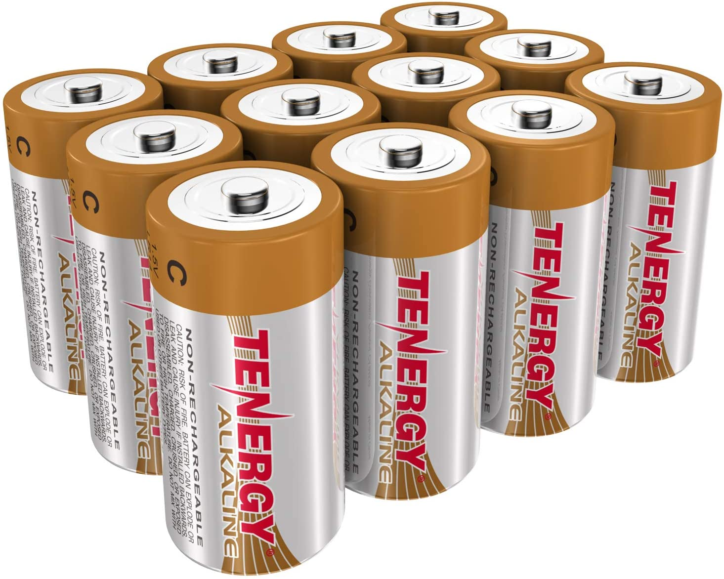 24-Pack Toys /& Electronic Devices Replacement C Cell Batteries Tenergy 1.5V C Alkaline LR14 Battery High Performance C Non-Rechargeable Batteries for Clocks Remotes