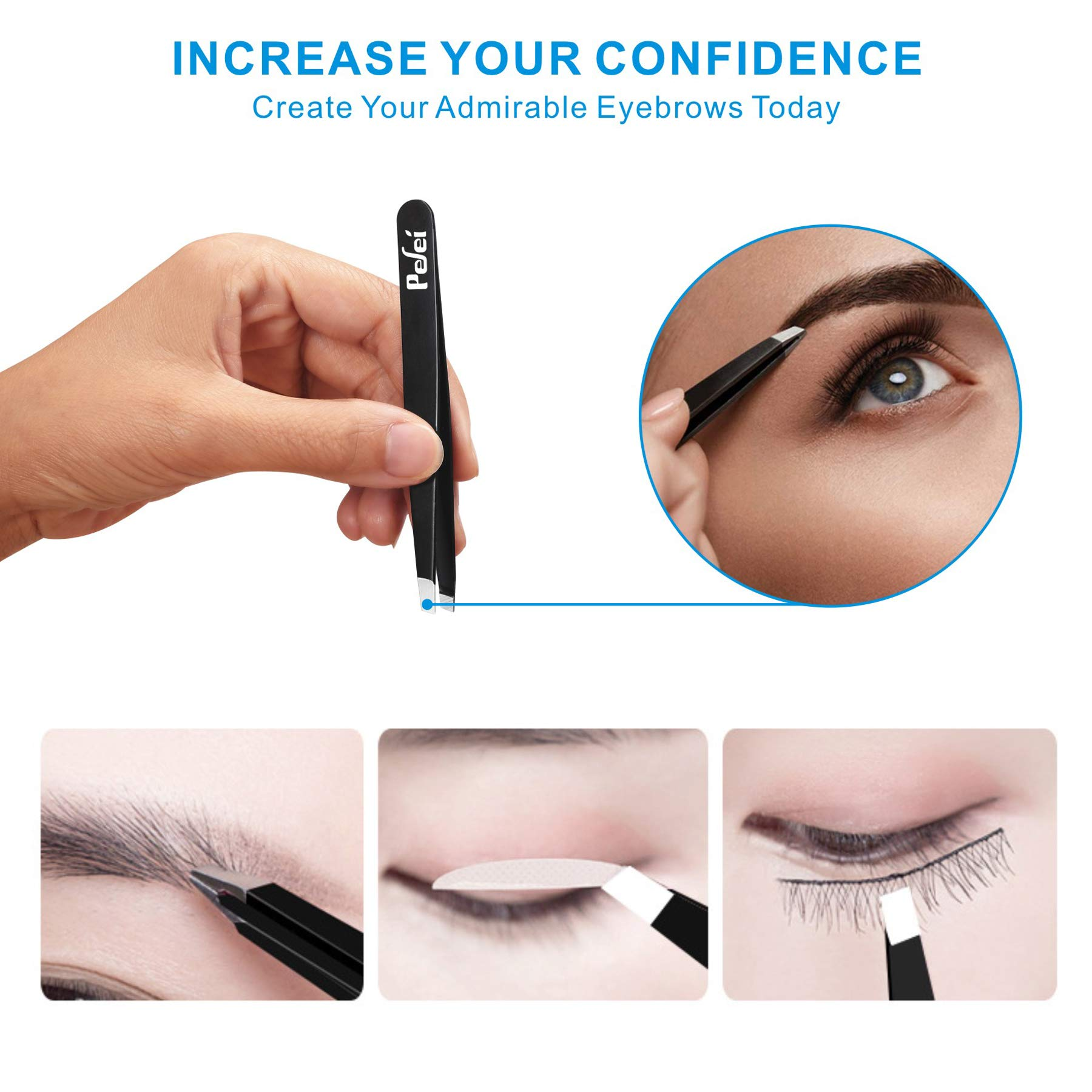 Tweezers Set - Professional Tweezers for Eyebrows