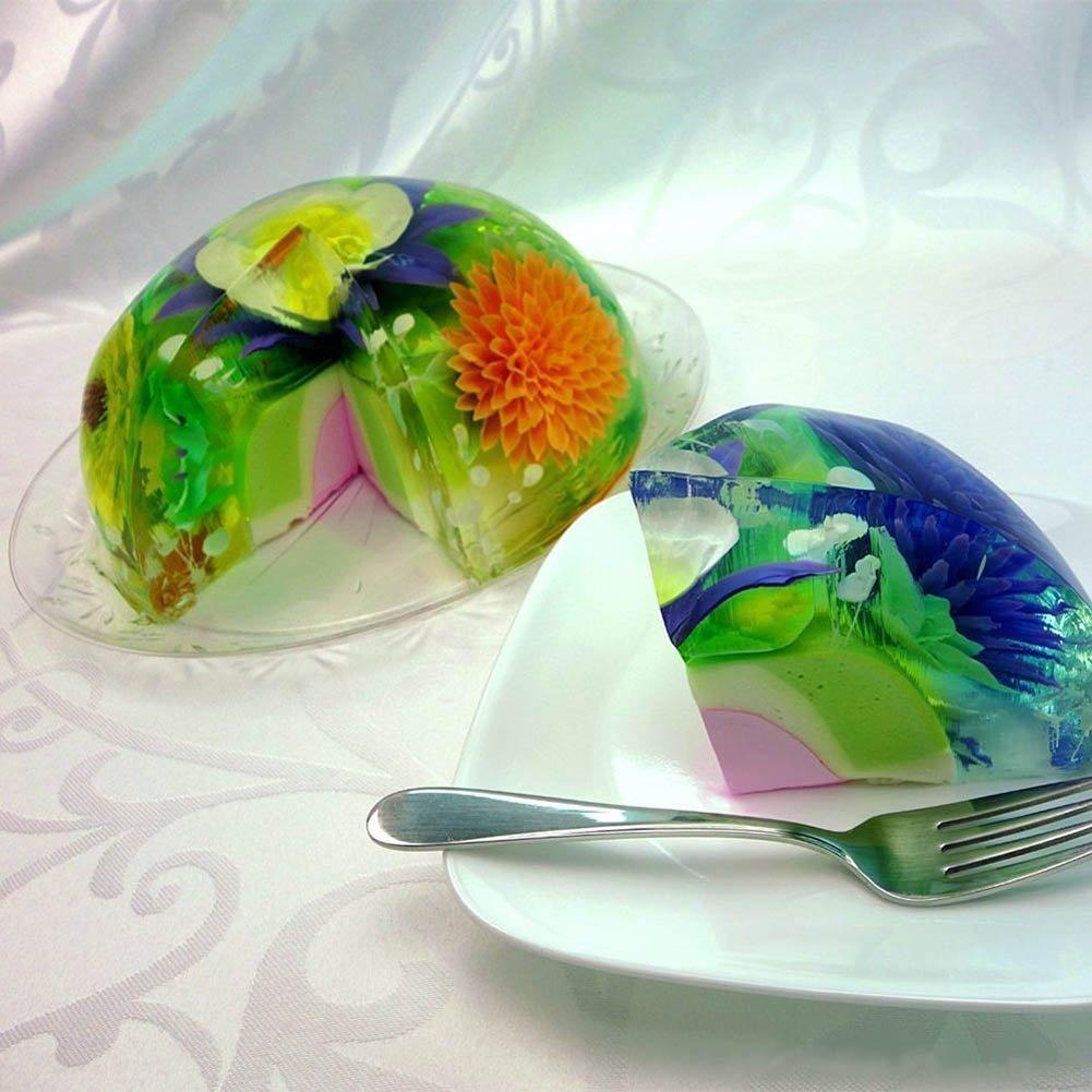 lzndeal - Lote de 11 utensilios 3D para flores de gelatina y pudín, utensilios de acero inoxidable para repostería, boquillas para pasteles, decoración 3D: ...
