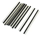 uxcell 1x40 Pins Male 2.54 mm Pitch Single Row Pin Header Strip 10 Pcs