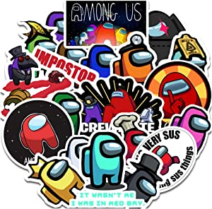 msgolbi Among Us Stickers 20 PCS | Among Us Crewmate Sticker Waterproof Vinyl Stickers for Laptop Phone Skateboard Water Bottles Bicycle Car Door Luggage Travel Decal