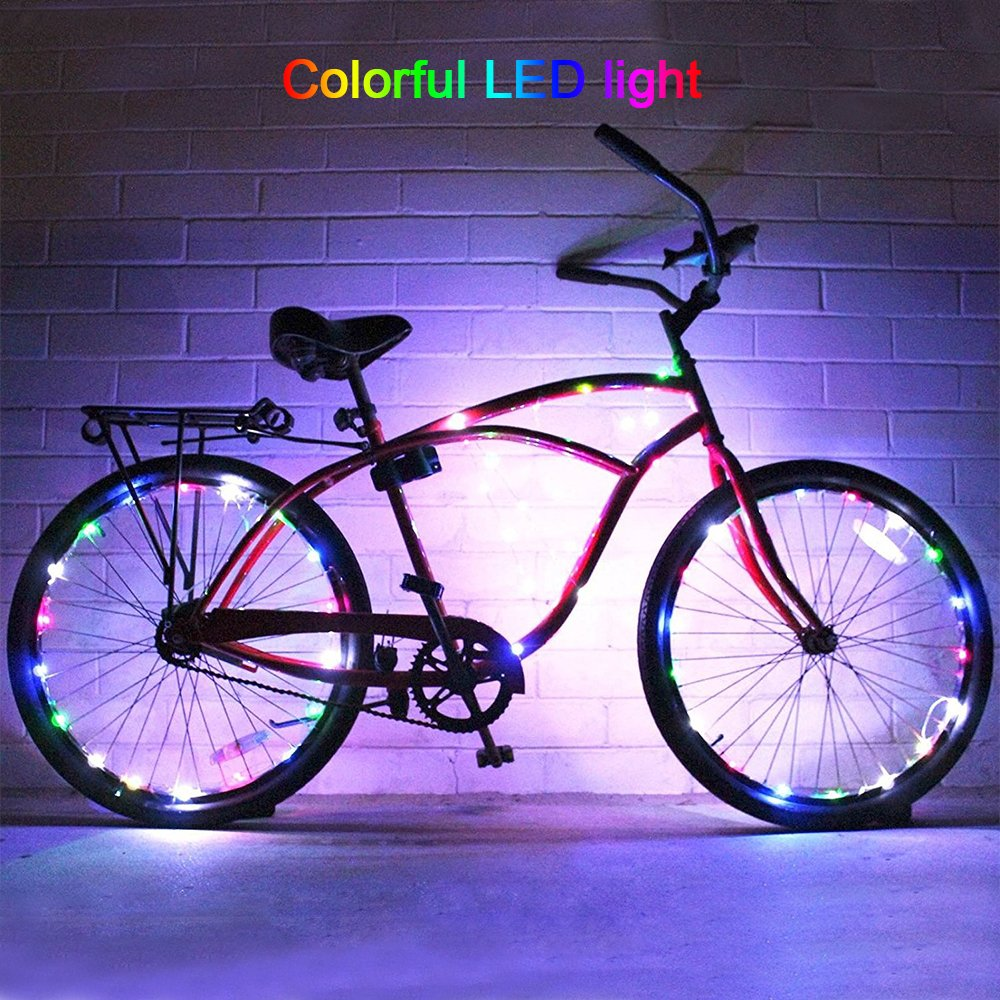 DIMY Bike Wheel Lights, LED Bike Wheel Light for Boys Toys for 5-16 Year Old Boys 5-14 Year Old Boy Gifts for Teen Girl Outdoor Toys Multicolor TTB07 by DIMY (Image #5)