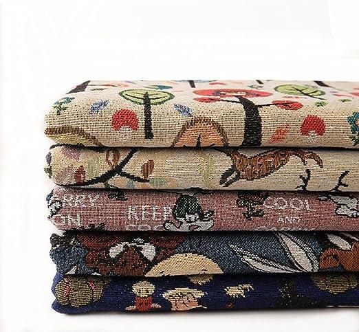 KAMIERFA poliéster y algodón Craft Tela cuadrados Patchwork pelusas DIY costura y manualidades Quilting Patrón Artcraft por Yard: Amazon.es: Hogar