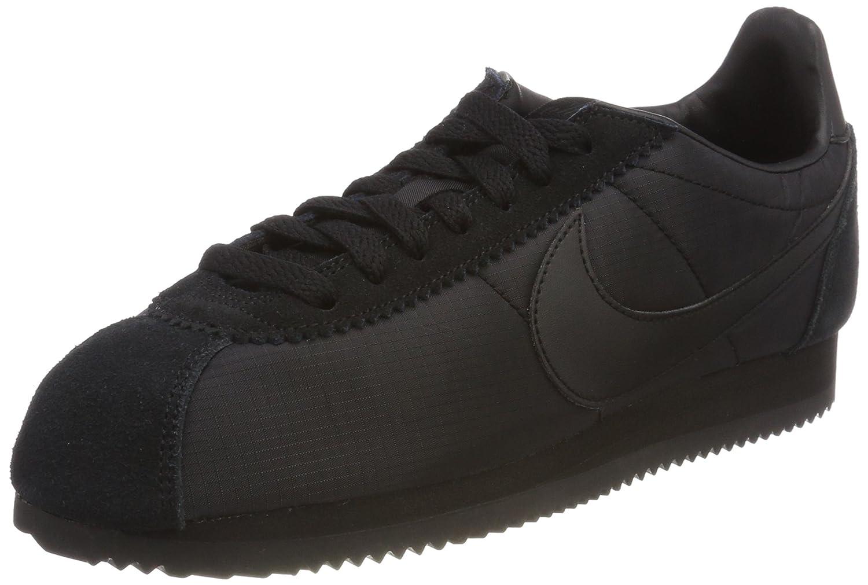 Nike Herren Classic Cortez Nylon Laufschuhe  45 EU|Schwarz (Black/Black/White 012)