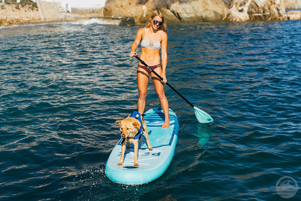 Peak All Around Inflatable Stand Up Paddle Board Package | 10'6'' Long x 32'' Wide x 6'' Thick | Durable and Lightweight SUP | Stable Wide Stance | White by PEAK Paddle Boards (Image #7)