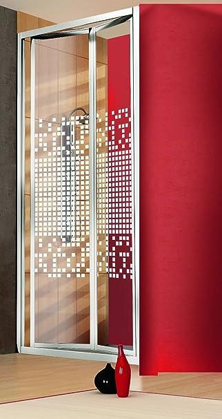 Puerta Ducha a libro Fuelle 68/73 cm Altura 185 cm aluminio cromo ...