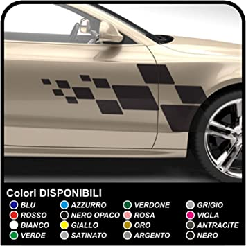 sticker autocollant damier sport tuning deco voiture decal racing drapeau