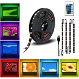 DDeLi LED Strip Lights 6.56ft USB TV Backlight DC 5V RGB Strip Lights for 40 to 60 in HDTV Desktop PC Neon TV Lights…