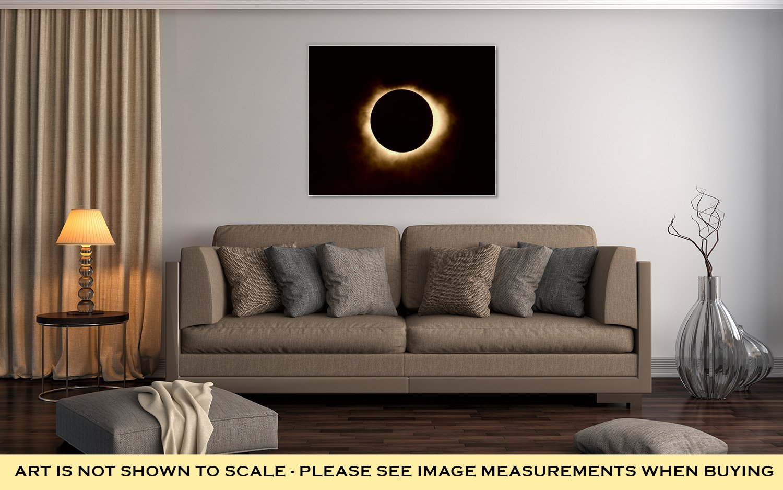 Ashley Canvas Total Solar Eclipse, Wall Art Home Decor, Ready to Hang, Sepia, 16x20, AG6464632