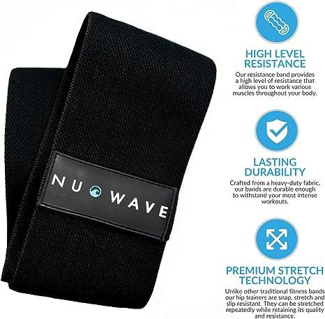 NuWave - Banda de Resistencia a la Cadera – Premium Antideslizante ...