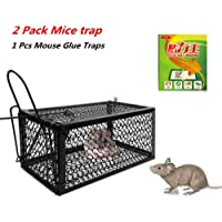 Effortsmy Mouse Trap No Kill Live Catch and Release Rodents (Paquete de 2)