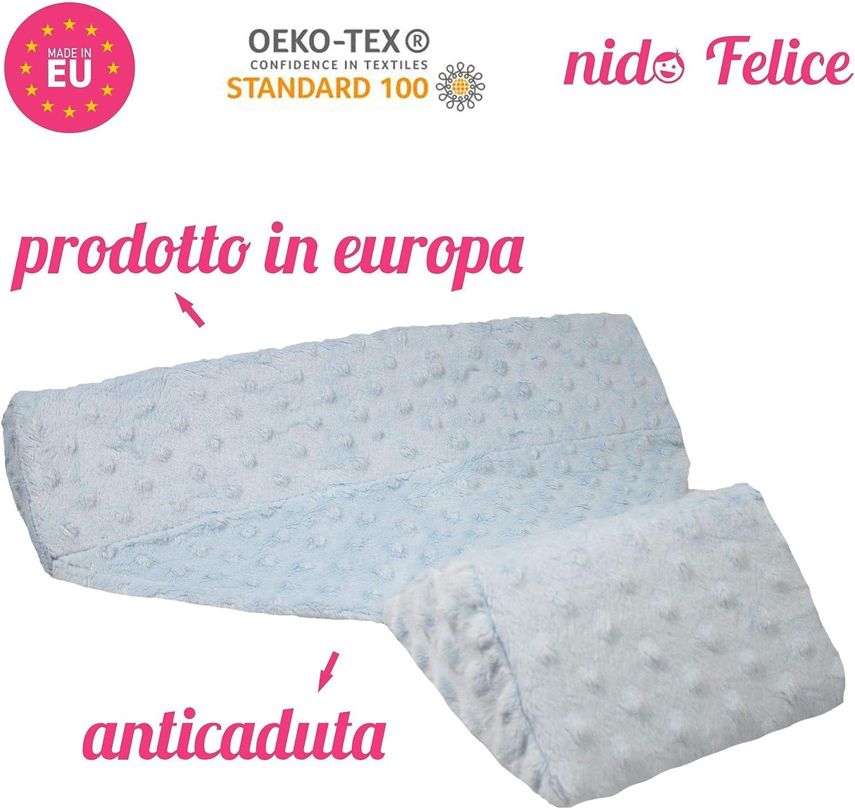 Nido Felice Coussin d/éhoussable lat/éral inclin/é et anti-chute pour b/éb/é Fabriqu/é en Union Europ/éenne Anti-reflux