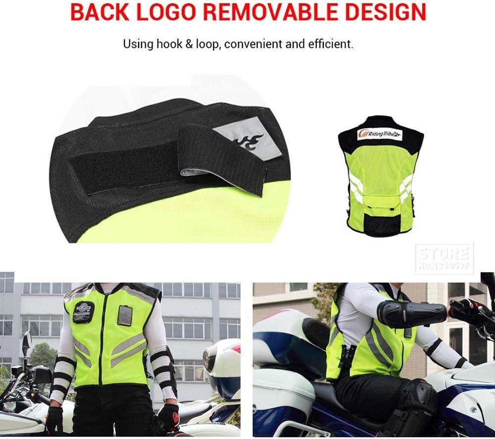 LKN Motorcycle Vest Safety Reflective Sleeveless Jacket