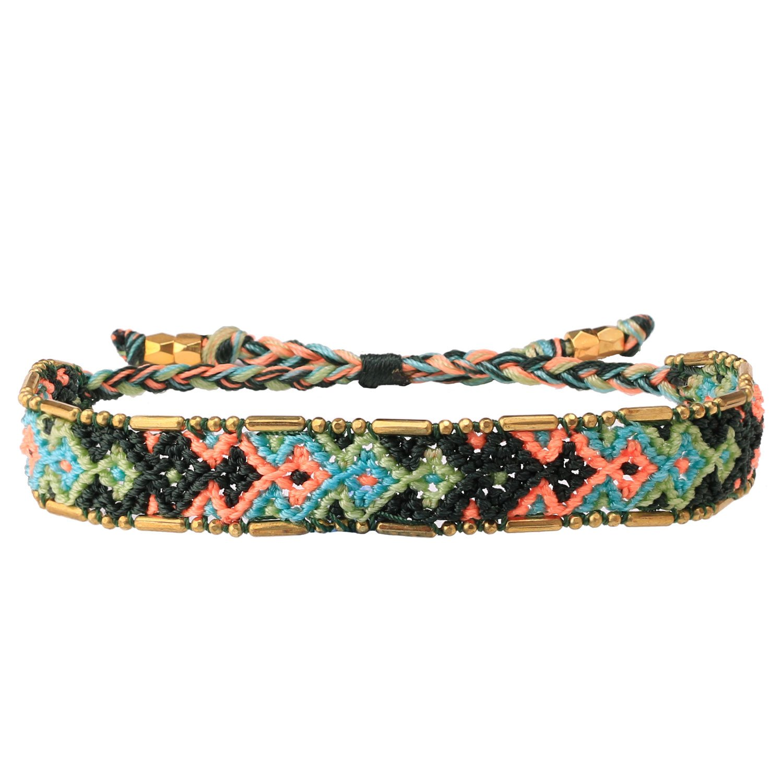 KELITCH Boho Handmade Woven Braided Friendship Bracelet Wristband for Mother's Day Kelitch Jewelry CAZ1W-15046