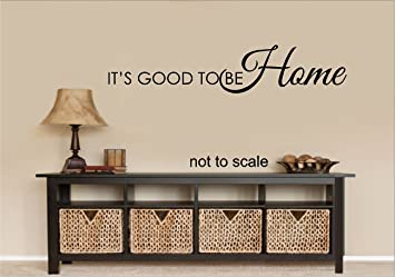 ITu0027S GOOD TO BE HOME WALL DECAL LETTERS STICKER HOME DECOR