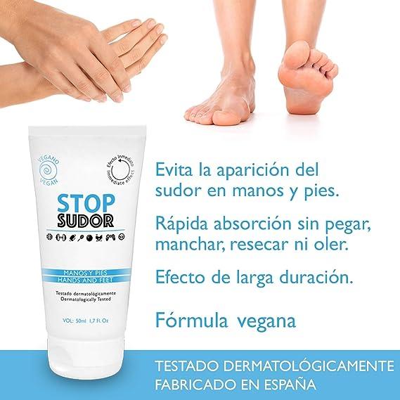 Stop Sudor Evita La Sudoración En Manos y Pies, Efecto Larga ...