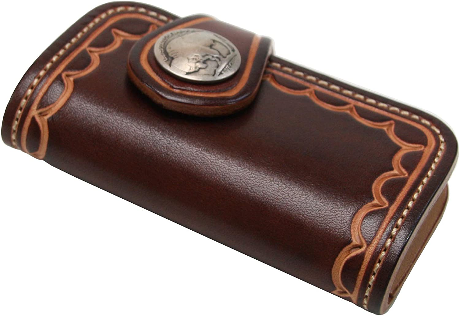 KC,s Leather GENUINE COWHIDE KEY CASE APPALOOSA HANDSTAMP Concho Handmade In Japan