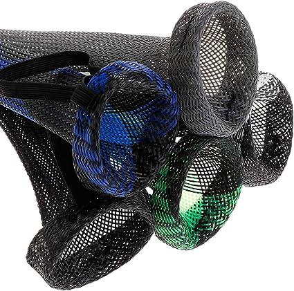 elastisch kratzfest tragbare Aufbewahrung Universal-Socken Jenor Schutzh/ülle f/ür Angelruten aus PET-Netzgewebe professionelle Werkzeuge One size BGN Stretch Schutzmanschette