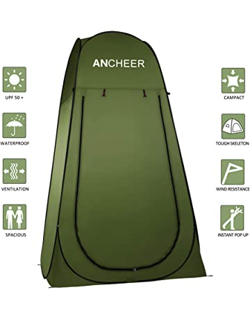 20ff8610134 ANCHEER Pop Up Tent Portable Camping Shower Tent Toilet Tent for Outdoor  Beach Camping Dressing Fishing