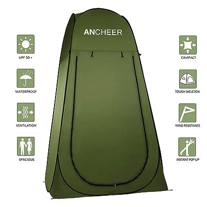 Ancheer - Tienda de campaña portátil con funda para inodoro, ducha