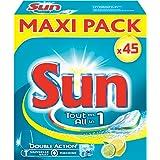 Sun tablettes lave-vaisselle tout en 1 citron 45 pastilles