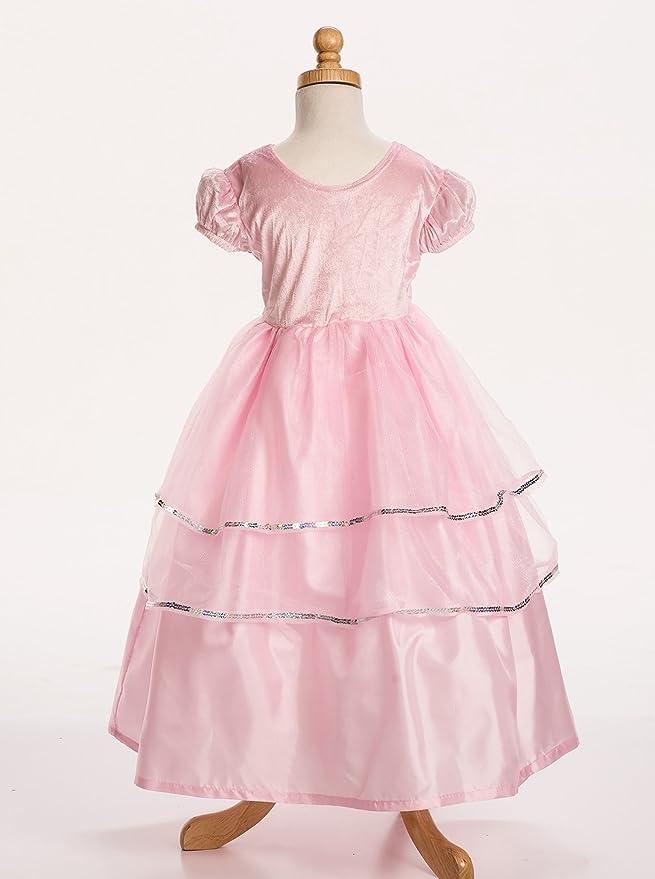 Amazon.com: Little Adventures Pink Princess Dress Up Costume For ...