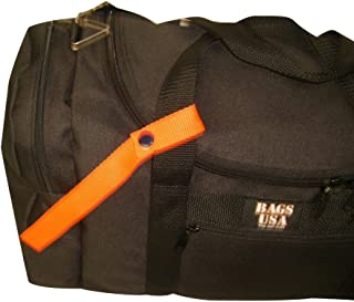 product image for 2 Pack Identify Your Luggage or Bags with These Bright Orange Straps,Made in U.s.a.