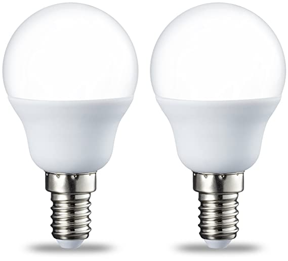 AmazonBasics Bombilla LED E14, P45, 5.5W (equivalente a 40W ...