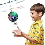 TOP Geschenk Geschenke für 3-12 Jahre Alt, RC Flying Ball Hubschrauber Spielzeug für Jungen Mädchen Kinder Lila TGUKTGFLB05