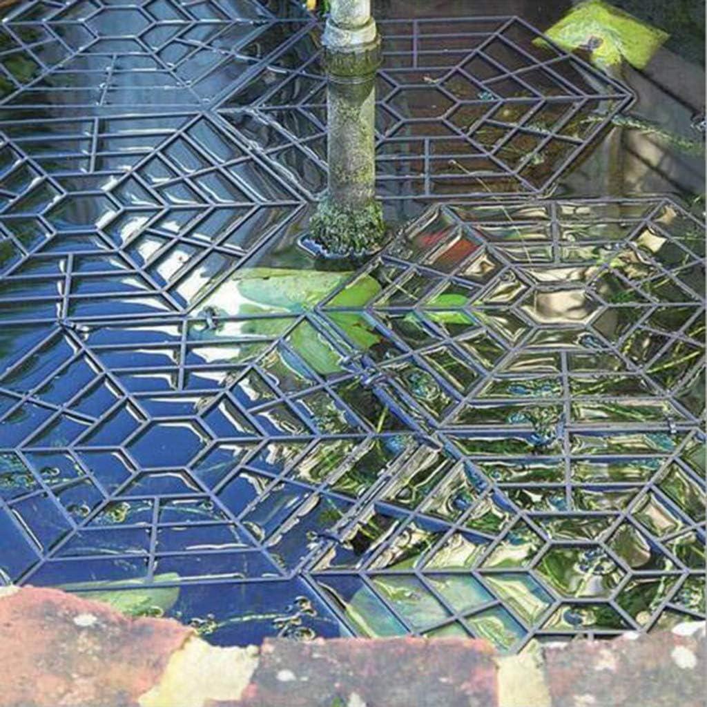 Fenteer 10stk Teichschutz-Gitter Set Gartenteich-Schutz Reiher-Schutzgitter Teichnetz