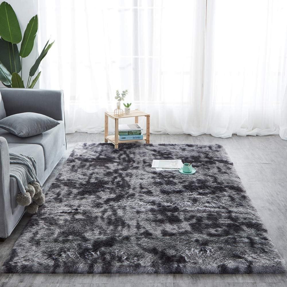 Modern Round moelleux coussin chaise pad hiver doux épais fausse fourrure Tapis de sol tapis