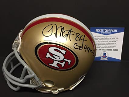 42ab3b3d2 Image Unavailable. Image not available for. Color  Josh Morgan Signed San  Francisco 49ers Football Mini ...